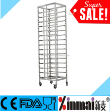 15-Level DETACHALBE Stainless Steel meat cooling tray racks, baker cooling rack trolley