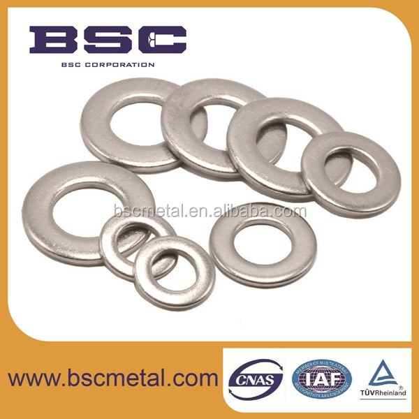 Non-magnetic stainless steel washer metric flat washer