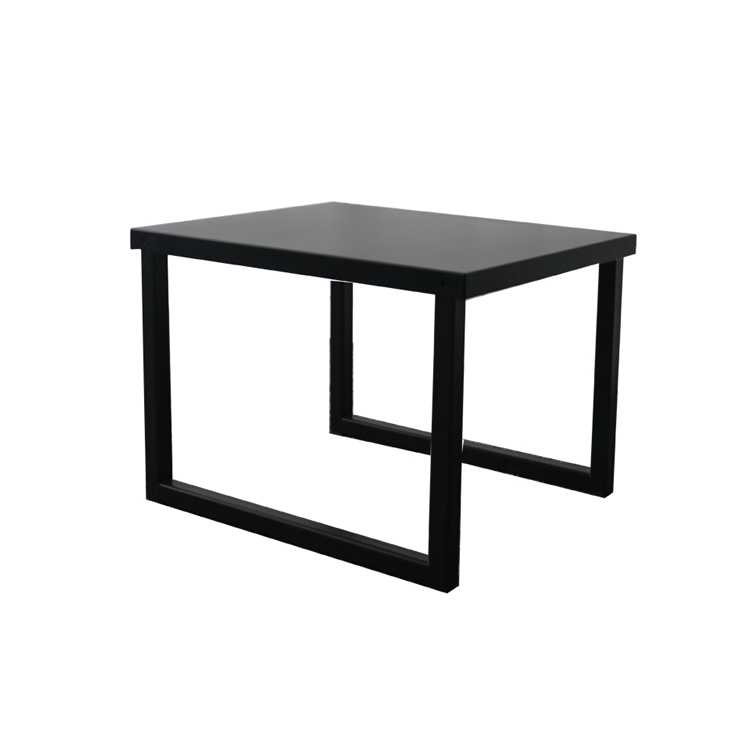 Smart square metal storage coffee table modern