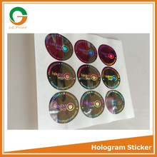 high quality 3d hologram waterproof holographic sticker for cosmetics security
