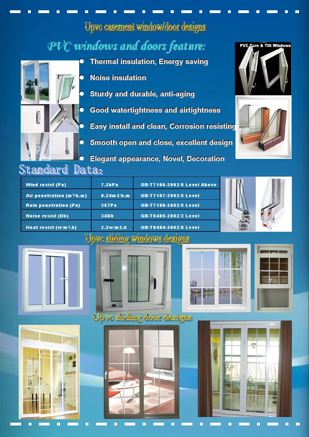 Factory direct prices cheap house upvc windows and doors for Windows and doors prices