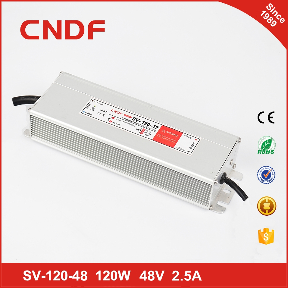 120w led driver waterproof 48v 2.5a led panel light switching dc power supply