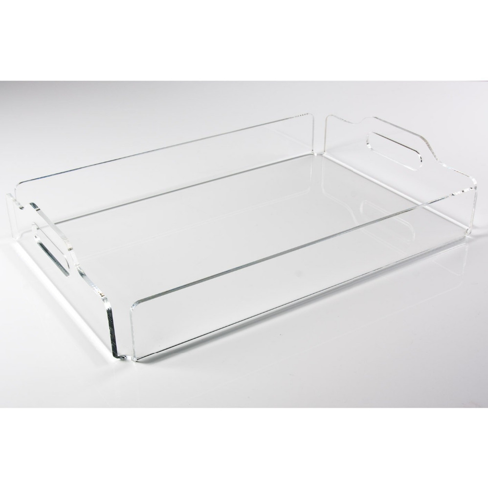 Transparent clear acrylic lucite serving trays wholesale for Where to buy lucite