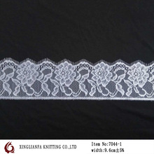 1.5yards/9.6cm width eyelash lace latest style african dry lace /fancy neck design lace for churidar