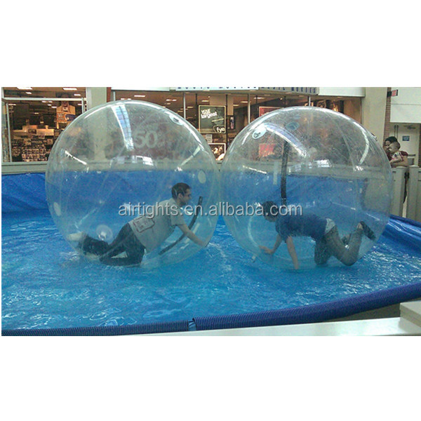 good quality water zorb ball, clear water walker ball with handles A4077-3