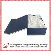 hot sale blue and white gift paper box cardboard