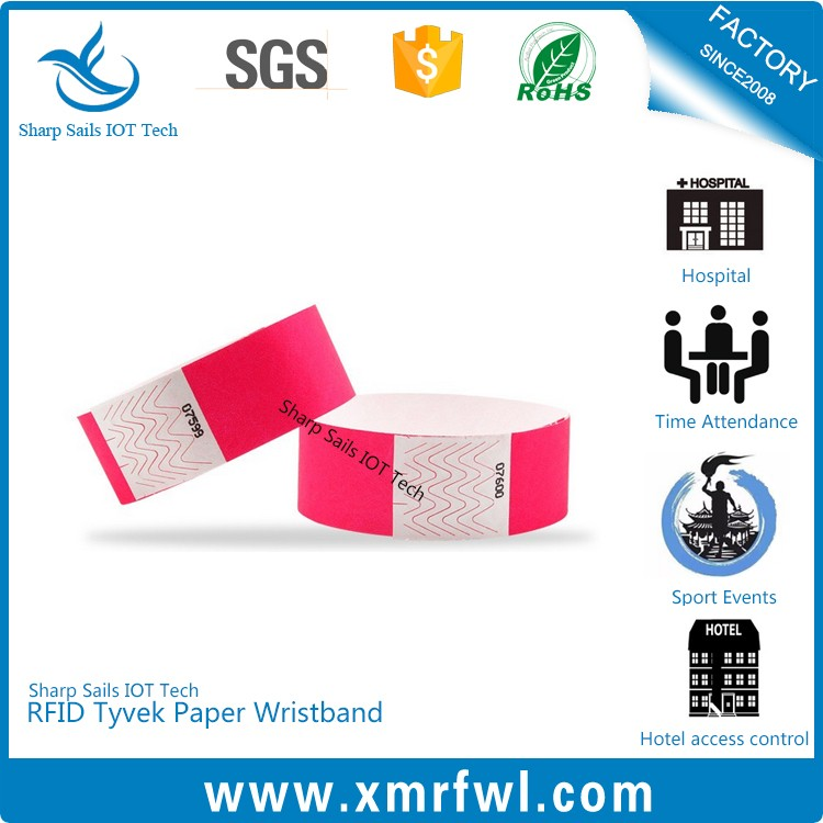 Factory price HF13.56MHZ nfc bracelet for concert ticket
