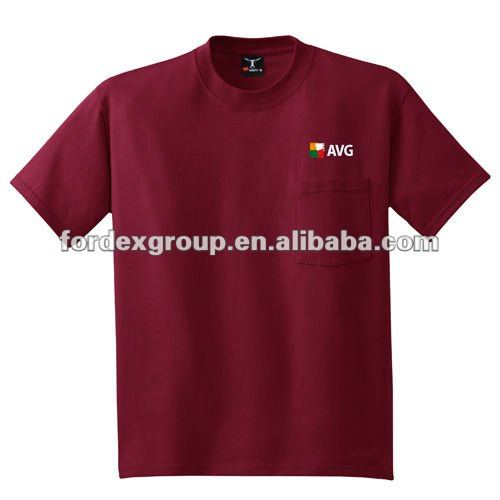Corporate collar pocket men t-shirt in different color