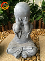 Hot selling stone finish outdoor monk statue