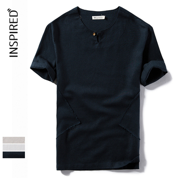 Man's solid color promotion polo t-shirt with logo 100 cotton linen t shirts