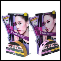 Custom eyelash packaging eyelash display stand/ Cosmetic wall display showcases design/ cosmetic display unit