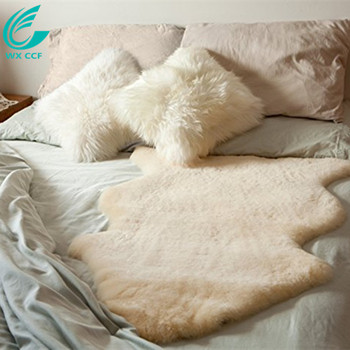 Natural Sheepskin Wool Comfort Mattress Bed Pad Bed Mat rug
