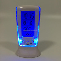 Thermometer Wireless Digital Weather Station Table Clock Hotel Household