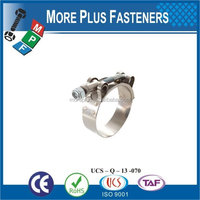 Made in Taiwan Stainless Steel german type hose clamp types of hose clamps T bolt hose clamp