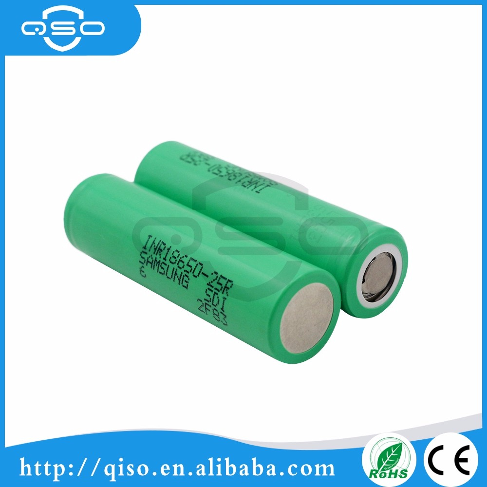 Original Samsung Li-ion 18650 2500mah 20A High capacity li-ion rechargeable battery Samsung 25r 18650