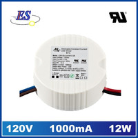 12W 1A AC-DC Constant Current Dimmable LED Driver with Triac Dimmer