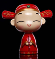 Beautiful Plastic Full Painting Traditional Chinese Doll