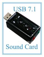 Factory Direct Sale---External USB 7.1 sound card/usb sound card/sound audio