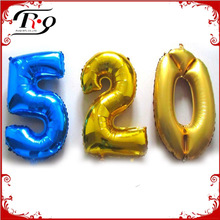 big colorful foil number balloon