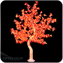 Christmas Indoor Decoration Artificial Red Maple Tree
