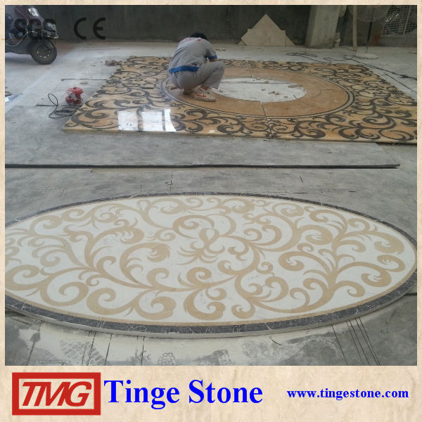 Perfect Water Jet Marble Medallion