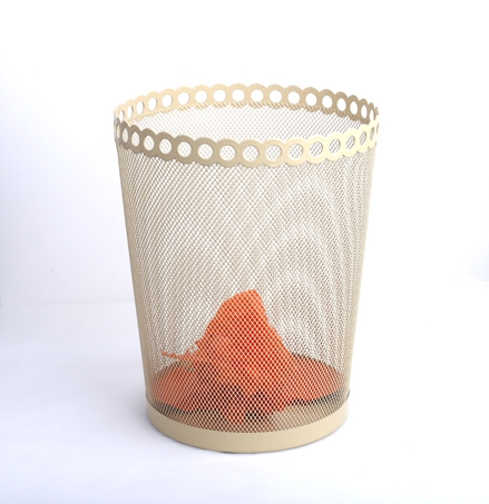 B85003D factory wholesale office and home usage iron metal mesh round innovative waste bin wire bin