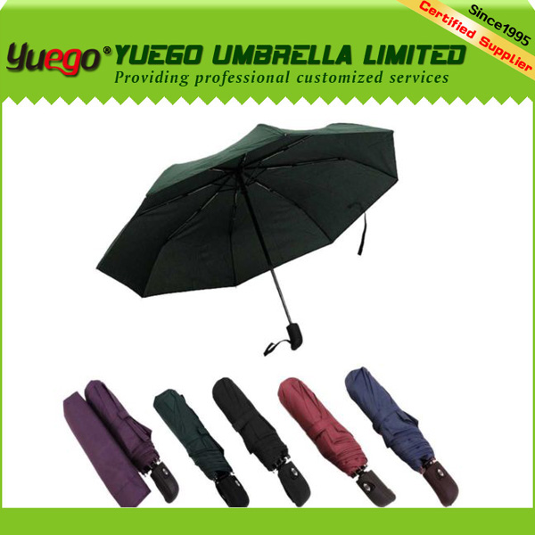 New mens womens folding windproof colorful plain umbrella