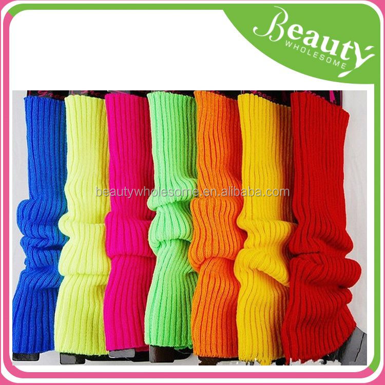 christmas hot sale leg warmers NK034 rainbow colors leg warmer