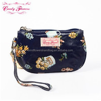 New 2016 Hot Sell Vintage Canvas Flowers Printed Ladies Coin Purse