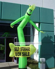 inflatable advertising material, sky dancer for sale,mini desktop air dancer