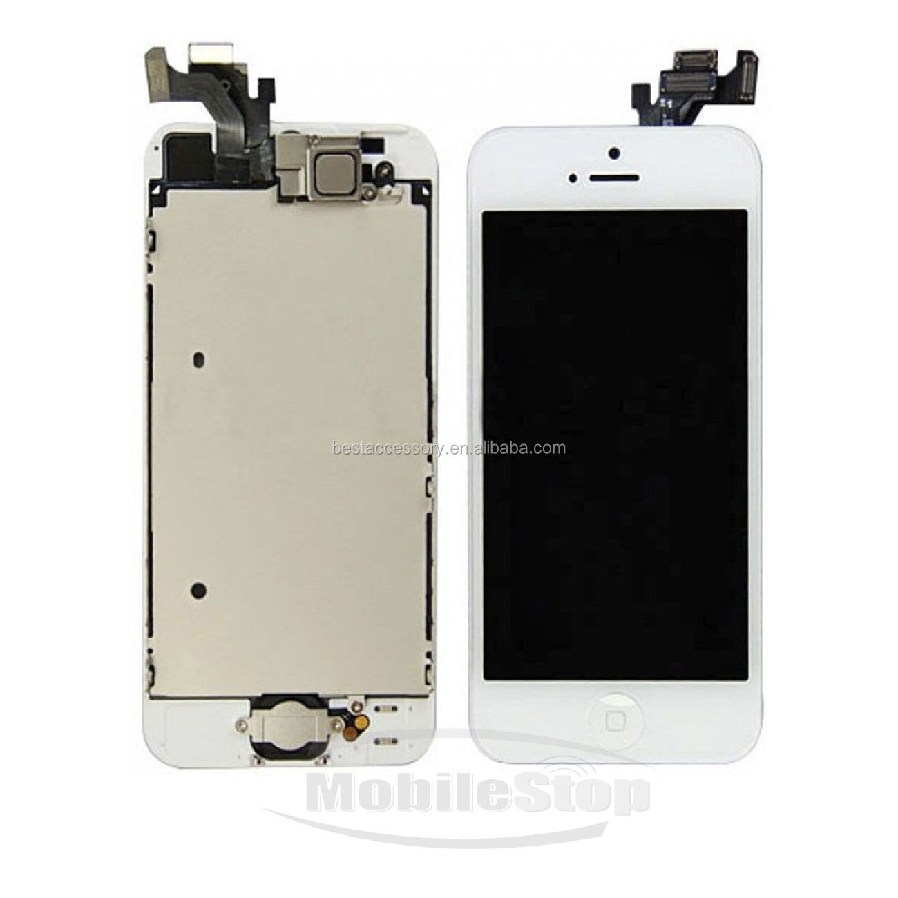 White LCD Touch Screen Display Digitizer FULL Replacement for iPhone 5 + Camera