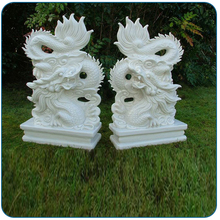 White Marble Chinese Traditional Life Size Dragon Statue for sale
