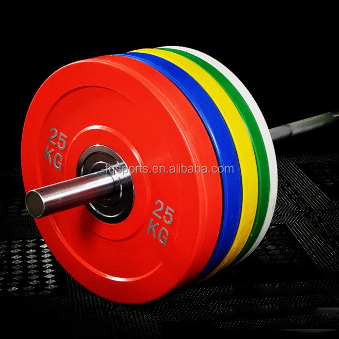 Bigger middle ring rubber weight plate bumper plate
