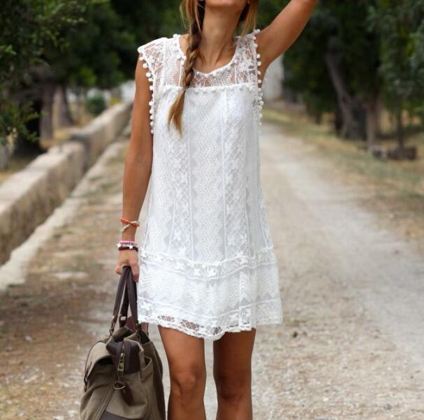 zm33532a hot sale women clothing 2017 ladies casual loose lace dresses