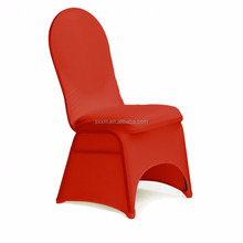 Round Top Cloth Red Color Spandex Chair Cover For Weddings