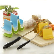 1Pc Plastic Kitchen Wave Shape Pot Pan Cover Lid Shell Stand Holder Racks Ladle Spoon Storage Rack Cooking Tools