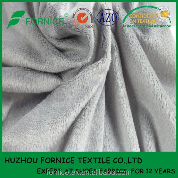 China manufacturer polyester various piles super soft plain ef velboa fabric