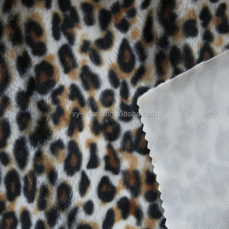 2016 hot-selling classical pattern velboa with cheetah printing