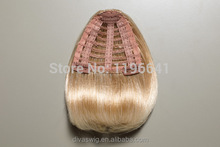 Wholesale Brazilian hair clip in bangs/remy clip in hair extension bangs/human hair fringes