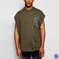 high quality apparel mens t-shirt manufacturers in china new design dropped armhole shirts for men