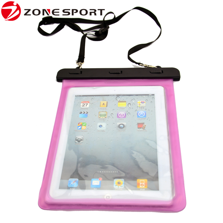 Waterproof bag for mini ipad with big window design waterproof case for tablet