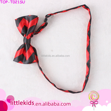 New Style Satin School Uniform Flashing Large Bow Tie For Funny Boy