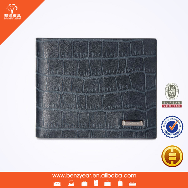 Fashion style crocodile pattern men leather wallet china wholesale small leather goods