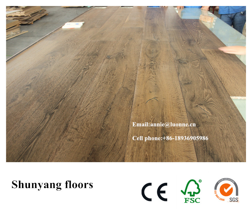 Chemical treated Multilayer <strong>oak</strong> engineered wood flooring