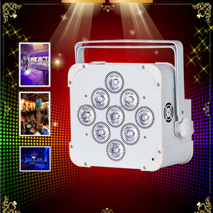 9 lens uplights led par 18watt rgbwa uv 6in1 flat wireless battery powered dmx led powercon par cans 9x18w WIFI control
