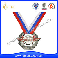 customized sport medal with neck ribbon, trophy with ribbon