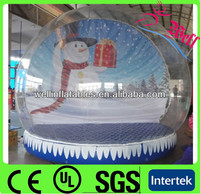 giant outdoor christmas inflatable snow globe 8m blow snow feather clear dance ball
