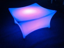 LED square cube acrylic led bar table Led glowing furniture LED party table/led lights