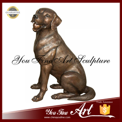 2016 New Produced Bronze Garden Dog Statues