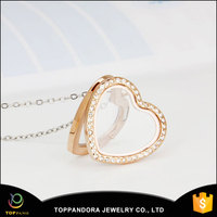 Toppano Jewelry round/heart/rectangle/square shape stainless steel glass living memory locket